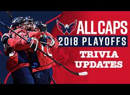 2018 Caps Playoffs - Trivia Update