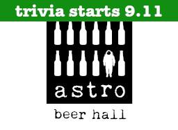 Astro Beer Hall Start Date