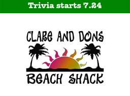 Clare and Don's Beach Shack Start Date