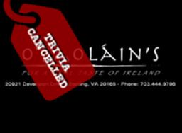 O'Faolain's Trivia Cancelled